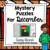 Hundreds Board Color By Number Mystery Puzzles for December