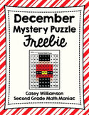 Hundreds Board Color By Number Mystery Puzzles for December Freebie!