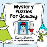 Hundreds Board Color By Number Mystery Puzzles for January