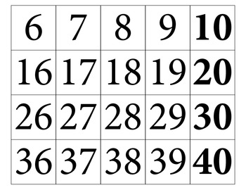 Hundreds Board / Hundreds Chart Large