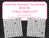 Hundreds Board Math Station: Find the Hidden Numbers: FREE SAMPLE!!