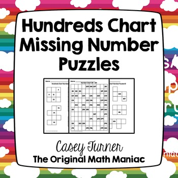 Hundreds Chart Missing Number Puzzles Numbers 101 - 999 | Tpt