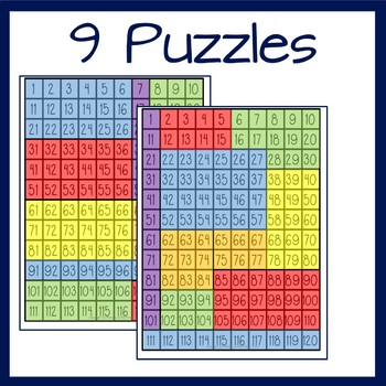 Hundreds Board Number Puzzles