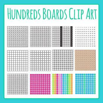 Hundreds Boards Commercial Use Clip Art Set