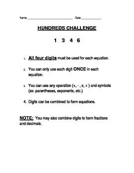 Hundreds Challenge