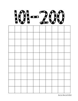 Hundreds Chart 1-1000 Booklet