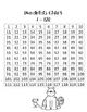 Hundreds Chart 1-120 Kitty Cat Theme
