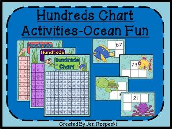 Hundreds Chart Activities-Ocean Themed