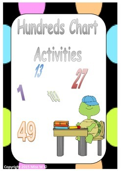 Hundreds Chart Activities - Turtle Theme