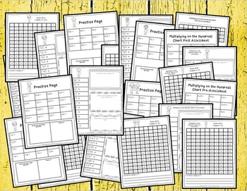 Multiplication on the Hundreds Chart: Assessments, Practice & MORE!