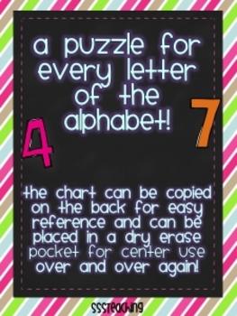 Hundreds Chart Alphabet Puzzles (Uppercase)
