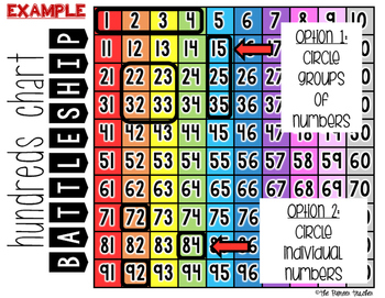 Hundreds Chart Battleship {Number Identification Game}
