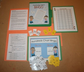 Hundreds Chart Bingo- Adding and Subtracting by Tens