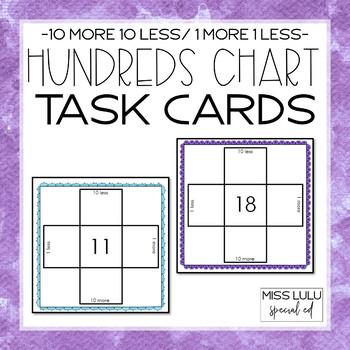 Hundreds Chart Task Cards (10 More, 10 Less)