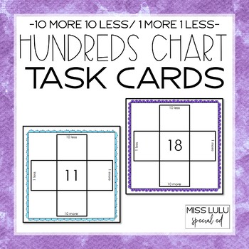 Hundreds Chart Task Cards (10 More, 10 Less)