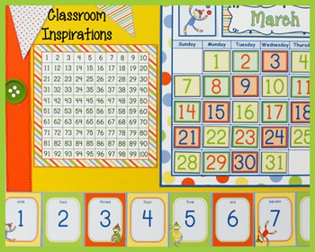 Hundreds Chart – Coordinates with Sock Monkey Classroom Theme