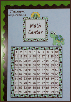 Hundreds Chart – Coordinates with Turtle Time Classroom Theme