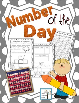 Hundreds Chart Daily Math Center Number of the Day Set