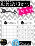 Hundreds Chart Fill Ins - Number Sense Activities!