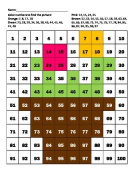 "Hundreds Chart ""Flower pot"""