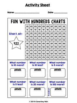 Hundreds Chart Fun Pack