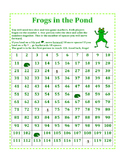 Hundreds Chart Game-- Frogs in the Pond
