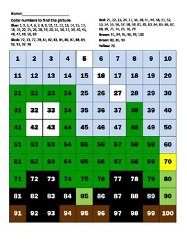 "Hundreds Chart ""Green Tractor"""