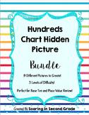 Hundreds Chart Hidden Picture Bundle 9 Pictures!  Place Value Base Ten Review