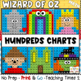 Wizard of Oz-Hundreds Chart Hidden Picture***Integrate Rea