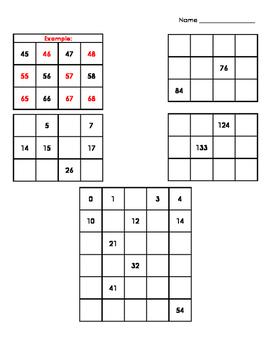 Hundreds Chart Mini Puzzles (17 puzzles!)