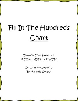 Hundreds Chart Missing Number! Common Core1.NBT.1 and 2.NBT.3
