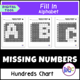 Hundreds Chart Missing Numbers Alphabet Distance Learning