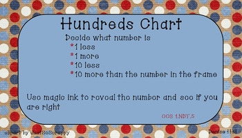 Hundreds Chart More and Less