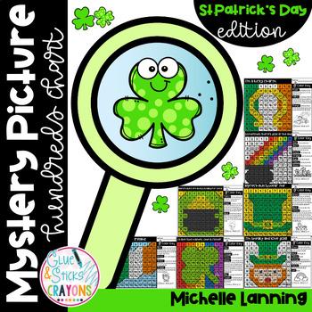 Hundreds Chart Mystery Pack - St. Patrick's Day (March)