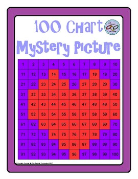 Hundreds Chart Mystery Picture Heart