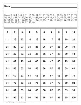 Hundreds Chart Mystery Picture Shamrock