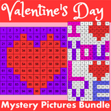 Hundreds Chart Mystery Pictures Bundle Valentine's Day