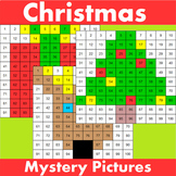 Hundreds Chart Mystery Pictures Christmas Themed Bundle