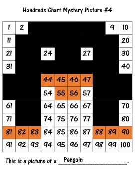 Hundreds Chart Mystery Pictures - Expanded Form