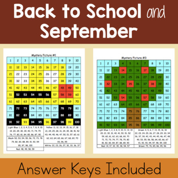 Hundreds Chart Mystery Pictures: Fall Packet