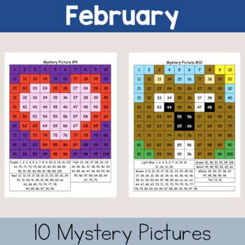 Hundreds Chart Mystery Pictures: Winter Packet