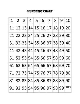 Hundreds Chart Mystery Pumpkin