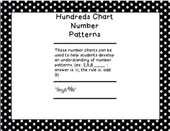 Hundreds Chart Number Patterns