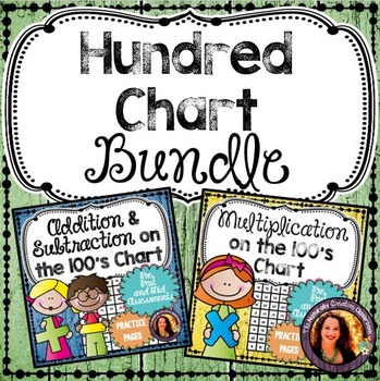 Hundreds Chart Activity BUNDLE: Hundreds Chart Multiplicat
