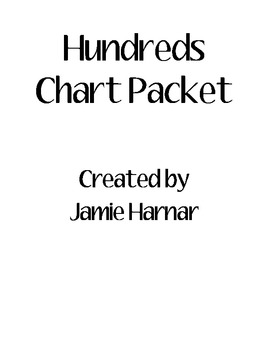 Hundreds Chart Packet