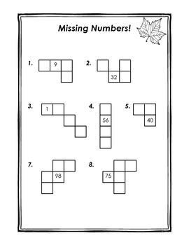 Hundreds Chart Pieces-- Missing Numbers Pack