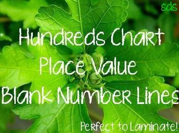 Hundreds Chart, Place Value, Blank Number Lines