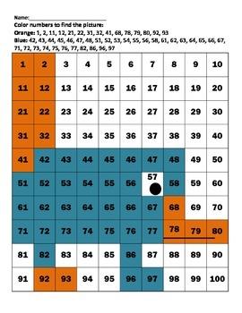 Hundreds Chart Platypus