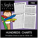 FREE Hundreds Chart Printables: 100 and 120 {A Hughes Design}