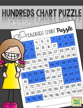 Hundreds Chart Puzzle {FREE}